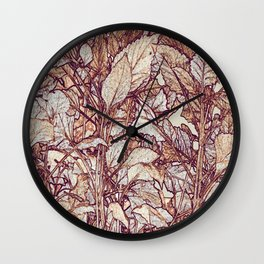 abstract camouflage leaves Wall Clock
