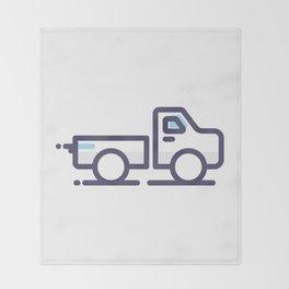 Utility Car Lineart Icon Throw Blanket