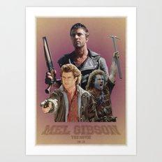 Mel Gibson The Movie Art Print