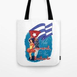 Cuban Carnaval Dancing Tote Bag