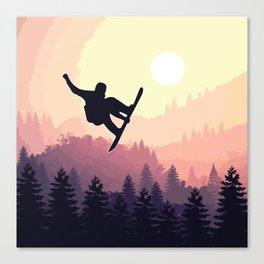 Snowboard Skyline III Canvas Print