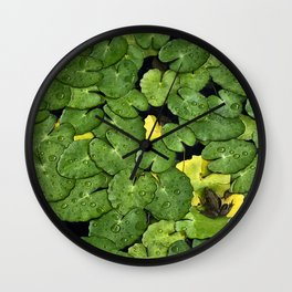 Frog on the Lily Pads Wall Clock