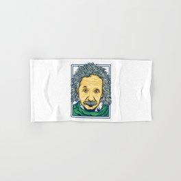 Illustration of the biggest physicist genius Albert Einstein. Hand & Bath Towel