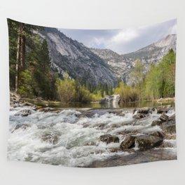 Mirror Lake and Rapids at Yosemite Wall Tapestry