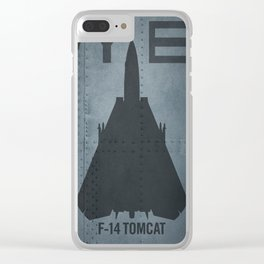 F-14 Tomcat Military Sweptwing Fighter Jet Clear iPhone Case