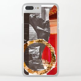 Rotating Horse Invator Clear iPhone Case