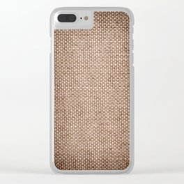 Beige burlap cloth texture abstract Clear iPhone Case