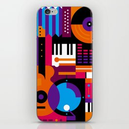 Music Mosaic iPhone Skin