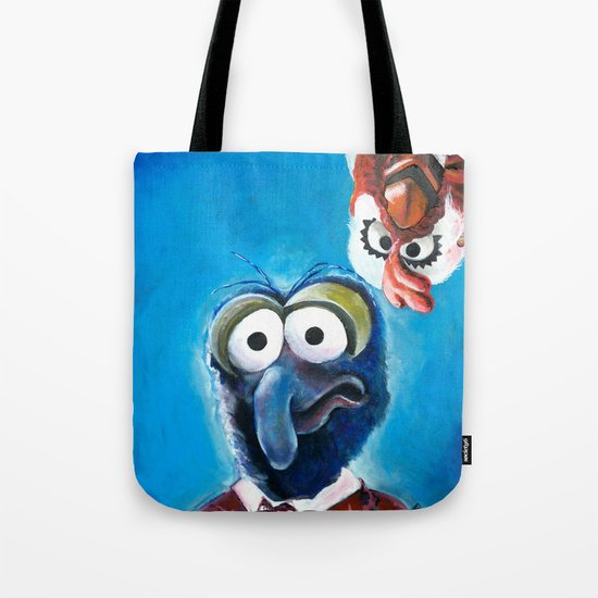 "Gonzo and Camilla Muppet Painting ""Still a Better Love Story"" Tote Bag"