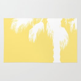 Palm Silhouettes On Yellow Rug