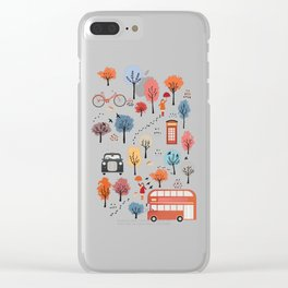 London transport with an adult female Clear iPhone Case