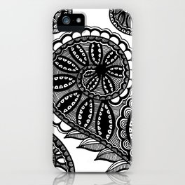 Waves and Spirals iPhone Case