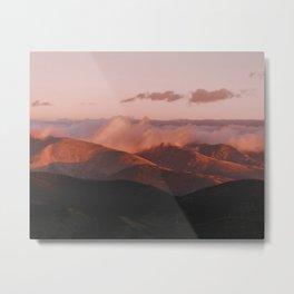 Frothy pink / waves of earth // Mt Evans, Colorado Metal Print