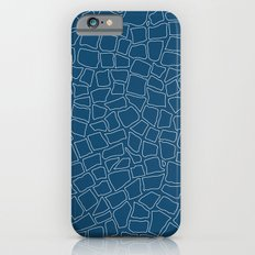 British Mosaic Blue Print iPhone 6s Slim Case