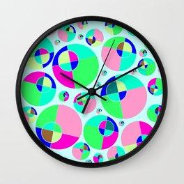Bubble pink & green Wall Clock