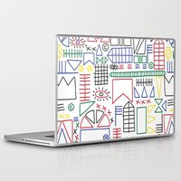 basquiat Laptop & iPad Skins featuring Basquiat & Volpi inspired pattern  by alicemnf