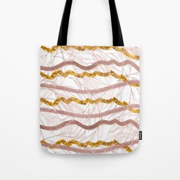 Glitter Lines Tote Bag