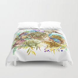 Dinosaur Collage Duvet Cover