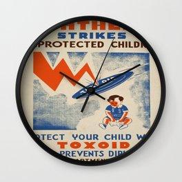 Vintage poster - Diptheria Wall Clock