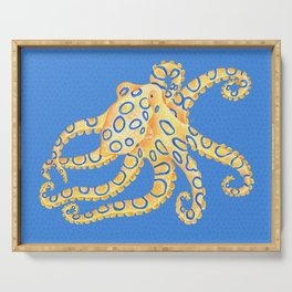 Blue Ring Octopus Serving Tray