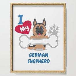GERMAN SHEPHERD - I Love My GERMAN SHEPHERD Gift Serving Tray