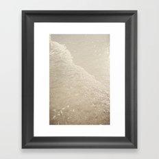 Sparkling Waves Framed Art Print
