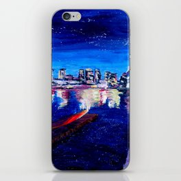 Vancouver skyline at starry night iPhone Skin