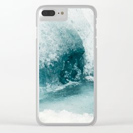 Water Swirl Clear iPhone Case
