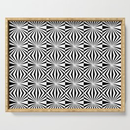 Optical pattern 85 black and white Serving Tray