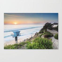 Pipes Beach Canvas Print