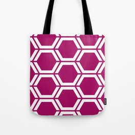 Jazzberry jam - violet - Geometric Polygon Pattern Tote Bag