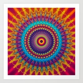 Fire and Ice Mandala Art Print