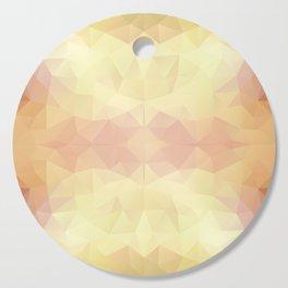 Mozaic design in warm pastel colors Cutting Board