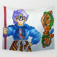 goku Wall Tapestries featuring Goku as The Monkey King by razem