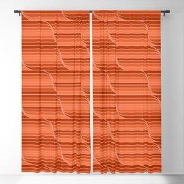 Geo Stripes - Rust Orange Blackout Curtain
