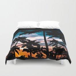 Palm trees dream Duvet Cover