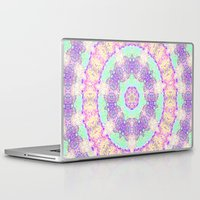 tree rings Laptop & iPad Skins featuring Tree Rings by Cosmic Lotus Tribe