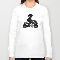 mario kart Long Sleeve T-shirts featuring Mario Kart 8 - Master Cycle Silhouette by brit eddy