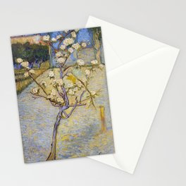 Blossoming Pear Tree by Vincent van Gogh Stationery Cards