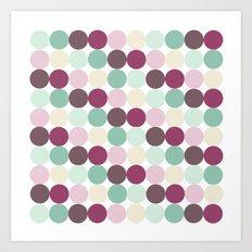 Geometric Modern Pastel Dots  Art Print