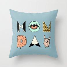 MONDAY Throw Pillow
