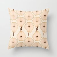 pear Throw Pillows featuring Pear by Colocolo Design | www.colocolodesign.de