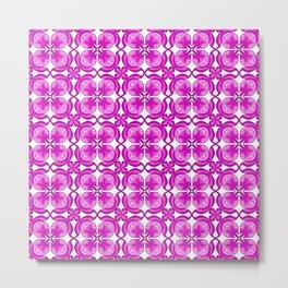 Purple Petals Shades of Purple and Pink Four Petals Fancy Spirit Organic Metal Print