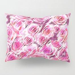 Textured Roses Pink Amanya Design Pillow Sham