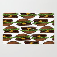 hamburger Area & Throw Rugs featuring Hamburger by nsvtwork