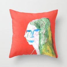 Helga in profile in full face Throw Pillow