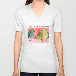 Love is in a feathers Unisex V-Neck
