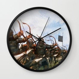 Medieval Army in Battle Wall Clock
