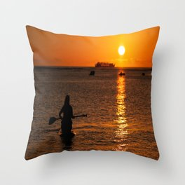 We only part to meet again Throw Pillow