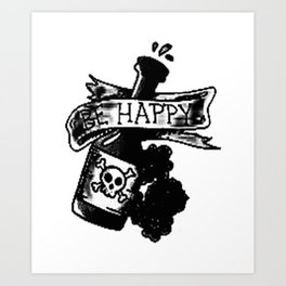 Be happy banner, custom gift design Art Print